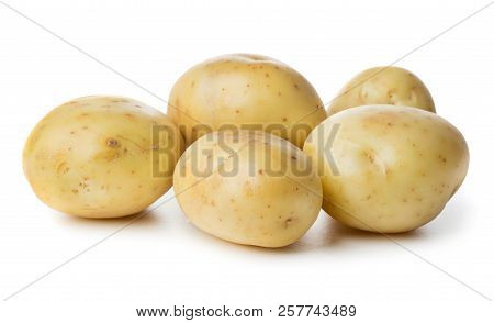 Heap Of Potatoes Isolated On White Background