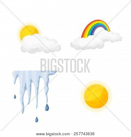Vector Illustration Of Weather And Weather Sign. Set Of Weather And Application Stock Vector Illustr