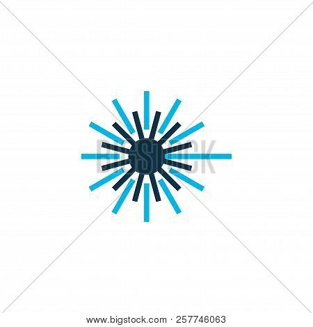 Laser Beam Icon Colored Symbol. Premium Quality Isolated Light Element In Trendy Style.