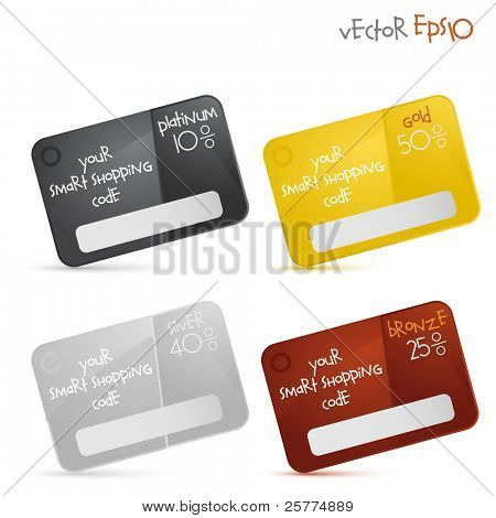 Gift or discount cards, vector EPS10.