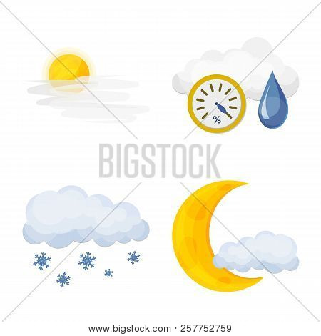Vector Design Of Weather And Weather Icon. Set Of Weather And Application Stock Symbol For Web.