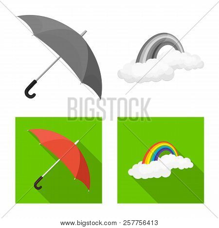 Vector Design Of Weather And Weather Icon. Collection Of Weather And Application Stock Vector Illust