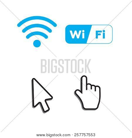Hand Arrow Web Cursor Vector And Free Wi-fi Icons And Wifi Applications