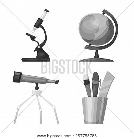 Vector Illustration Of Education And Learning Logo. Collection Of Education And School Vector Icon F