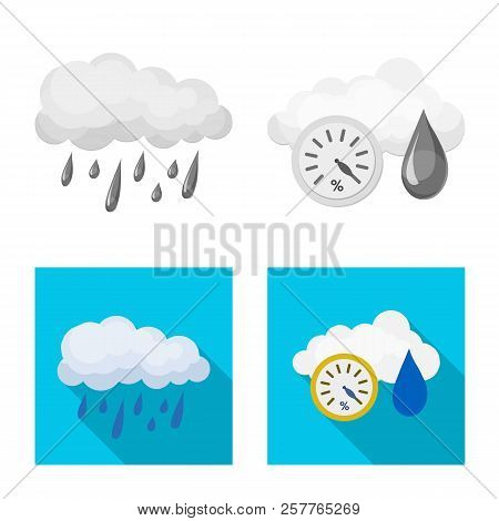 Vector Design Of Weather And Weather Logo. Set Of Weather And Application Vector Icon For Stock.
