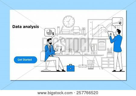 Data Analysis, Search Engine Optimization.concept Of Data Analysis For Website And Mobile Website.