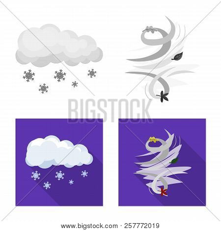 Vector Design Of Weather And Weather Icon. Collection Of Weather And Application Stock Symbol For We