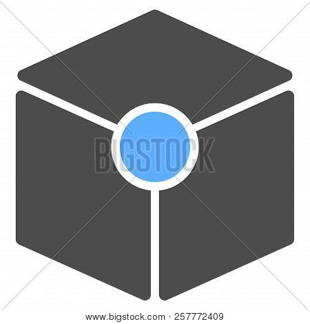 Vector Cube Vertex Illustration. An Isolated Illustration On A White Background.