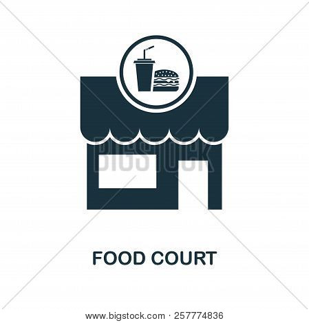 Food Court Icon. Monochrome Style Design From City Elements Icon Collection. Ui. Pixel Perfect Simpl