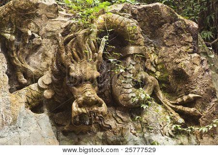 Chinese Stone Dragon Statue