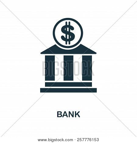 Bank Icon. Monochrome Style Design From City Elements Icon Collection. Ui. Pixel Perfect Simple Pict