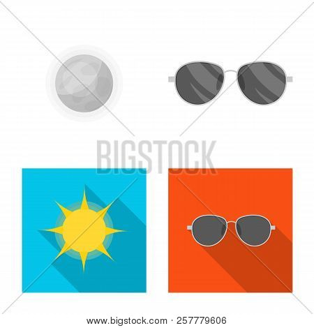 Vector Illustration Of Weather And Weather Logo. Collection Of Weather And Application Vector Icon F