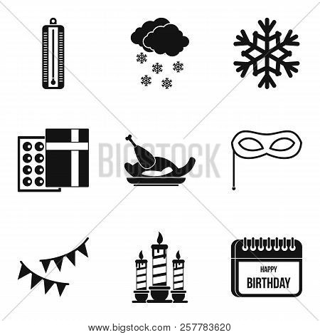Cold Journey Icons Set. Simple Set Of 9 Cold Journey Icons For Web Isolated On White Background