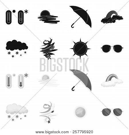 Vector Illustration Of Weather And Weather Symbol. Set Of Weather And Application Stock Vector Illus