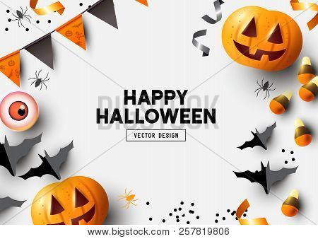 Autumn Halloween Composition Background