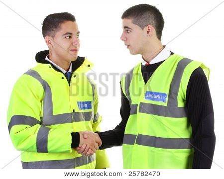 Security Guard Hand Shake