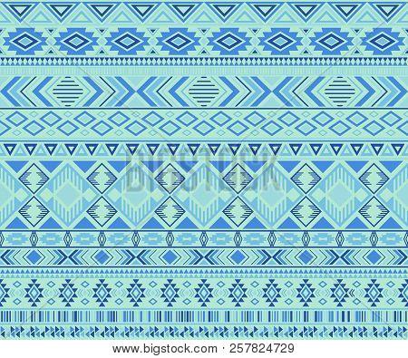 Navajo American Indian Pattern Tribal Ethnic Motifs Geometric Seamless Background. Cute Native Ameri