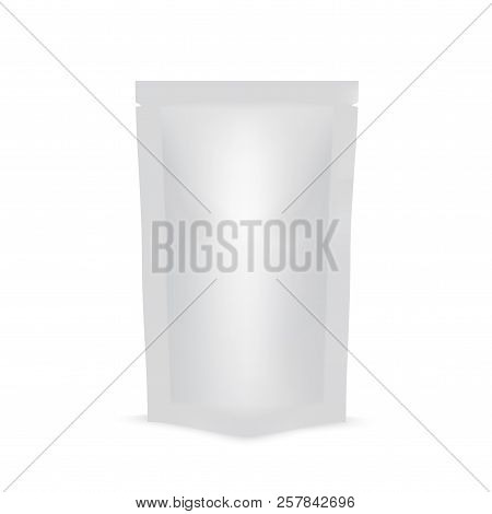 Blank Of Doy Pack For Food Or Drink. Mock Up. Vector.