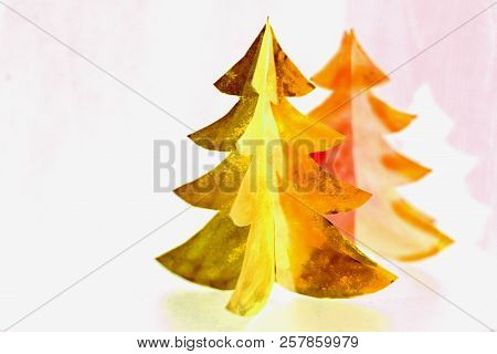 Christmas Tree Paper Cutting Design Card. Christmas Tree Paper Craft. Paper Cut Design.ideal For Hol