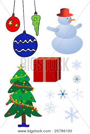 Various Christmas Design Elements