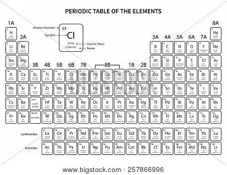 Periodic Table Vector & Photo (Free Trial) | Bigstock