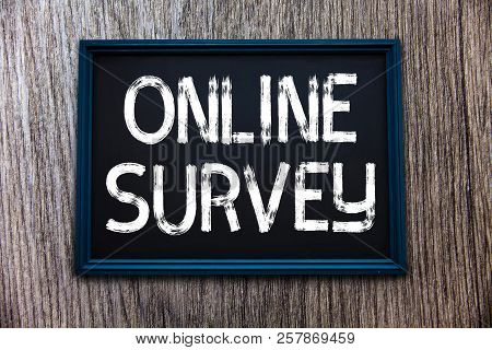 Handwriting Text Online Survey. Concept Meaning Reappraisal Feedback Poll Satisfaction Rate Testimon