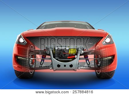 Electric Car Cystem Wheelbase With Electric Vehicle Drive System And Battery Pack 3d Render As Car P