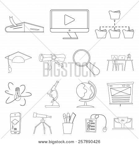Vector Illustration Of Education And Learning Logo. Set Of Education And School Stock Vector Illustr