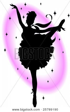 A Silhouette of a woman dancing ballet