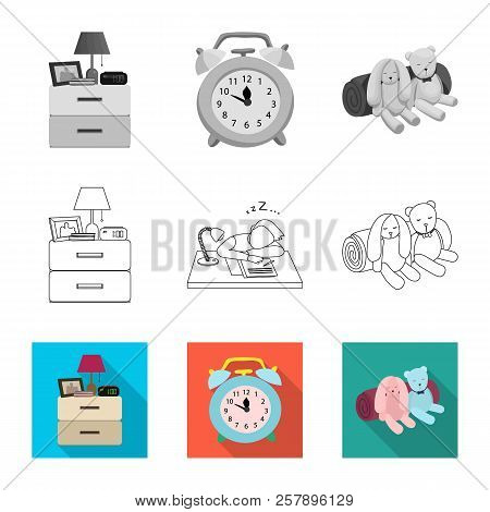 Vector Design Of Dreams And Night Icon. Collection Of Dreams And Bedroom Stock Symbol For Web.