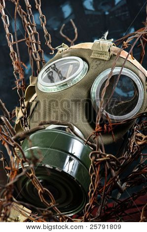 Apocalyptic Gasmask In The Bond Of Eternal Darkness