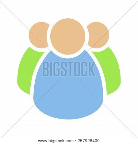 Community Glyph Color Icon. Group Of People. Community Service. Teamwork. Association. Silhouette Sy