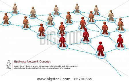 business network illustration isolated on white background