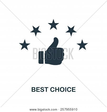 Best Choice Icon. Monochrome Style Design From E-commerce Icon Collection. Ui. Pixel Perfect Simple
