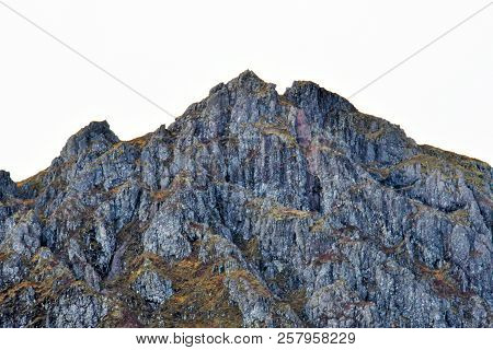 Panorama Summit Rock Mountains Lanscape Of The Scotland Highlands