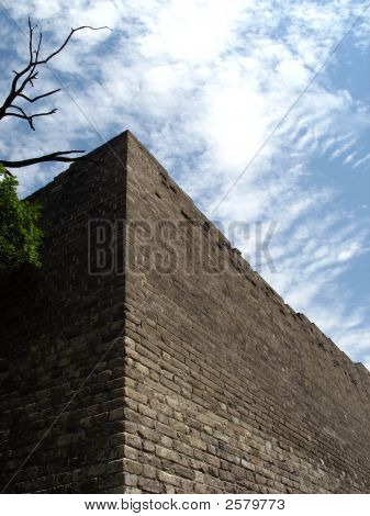 Ancient Wall In Chinese City Of Beijing