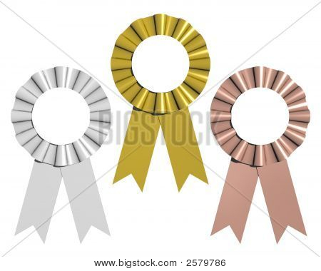 Gold, Silver, And Bronze Ribbons