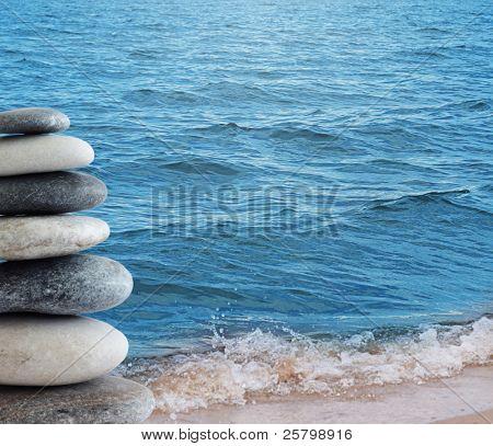 Stones near sea