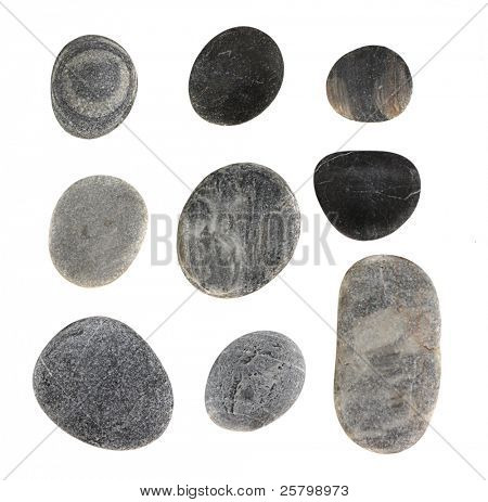 Stones  isolated on white.