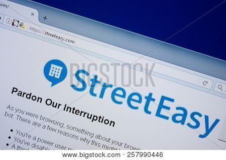 Ryazan, Russia - September 09, 2018: Homepage Of Street Easy Website On The Display Of Pc, Url - Str