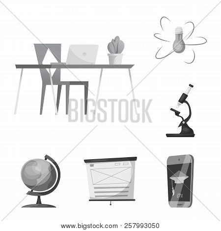 Vector Design Of Education And Learning Icon. Set Of Education And School Stock Vector Illustration.
