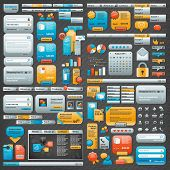 Great collection of website elements poster