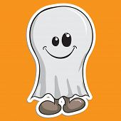 Cute Halloween character - Ghost poster