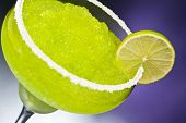 Classic margarita cocktail in front of different colored backgrounds poster
