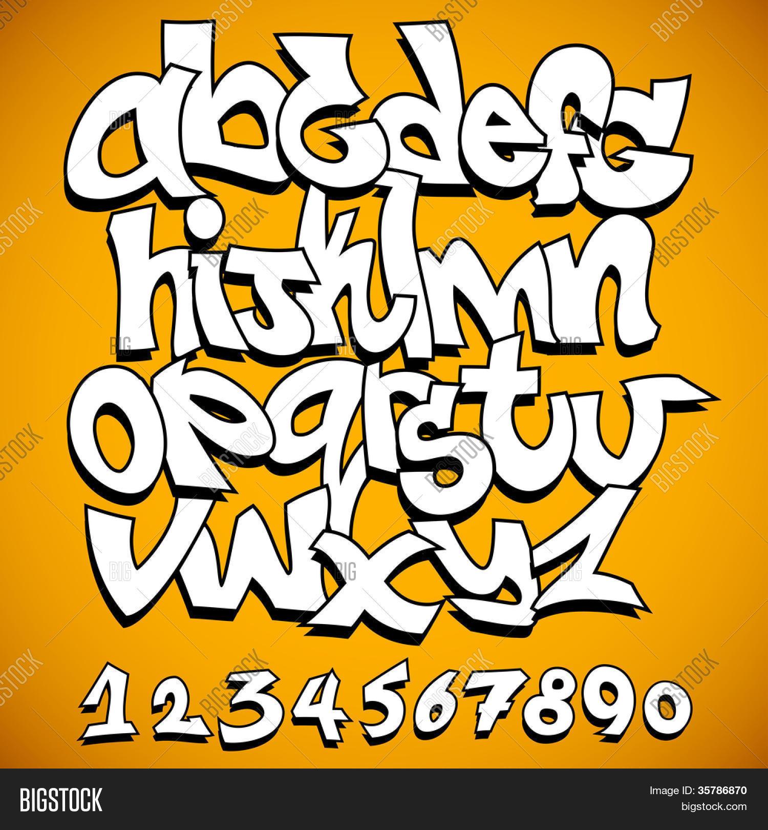 Graffiti Font Vector & Photo (Free Trial) | Bigstock