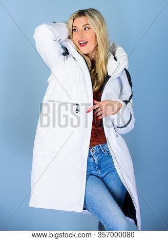 Girl Wear White Jacket. Not Every Jacket Is Ideal For Every Climate. Jacket Has Extra Insulation And