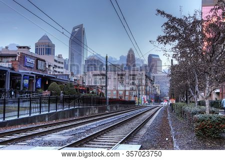 Charlotte, North Carolina/united States- January 10: The Rapid Transit  On [january 10, 2020] In [ch