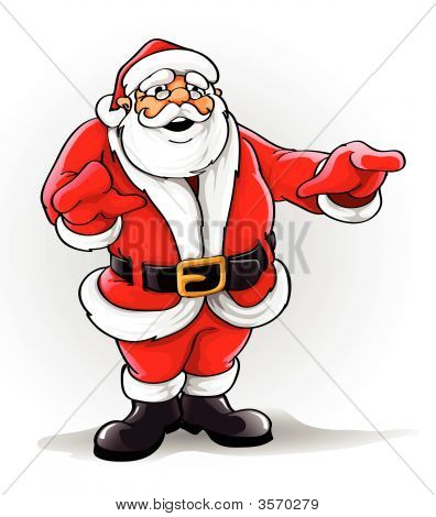 Vector Santa Claus Singing Christmas Song