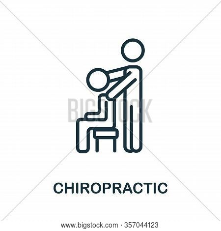 Chiropractic Icon From Alternative Medicine Collection. Simple Line Chiropractic Icon For Templates,