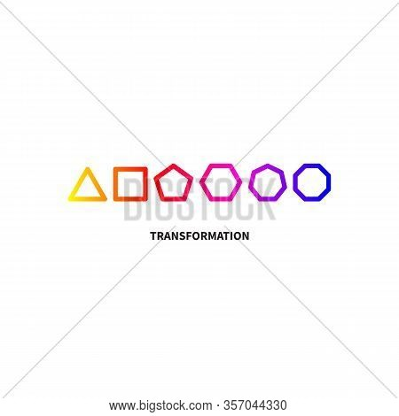 Logo Transform, Transformation, Evolution Icon, Development, Growth Sign, Coaching Symbol, Change Id